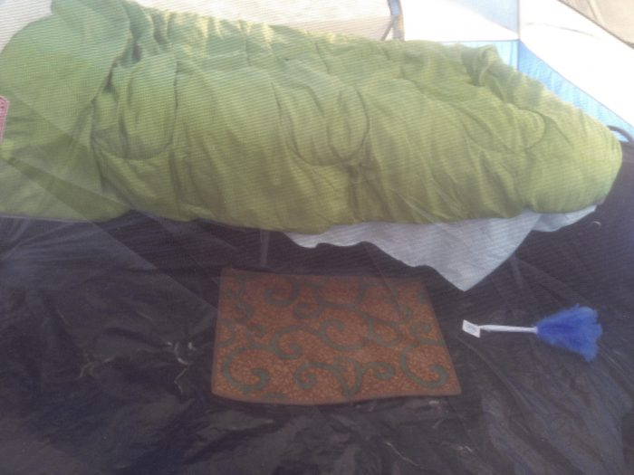 Inside of Kathy's Tent ©Kathy Passmore