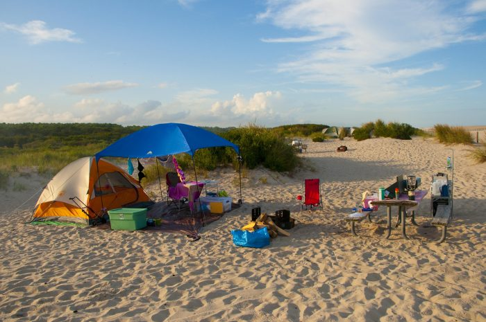 Tent Camping At Assateague