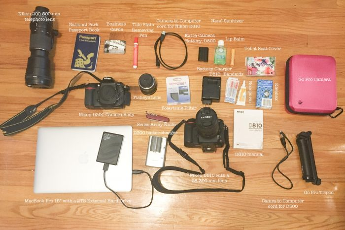 Contents of Camera Backpack