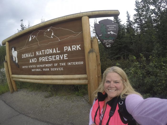 Kathy@Denali National Park Sign