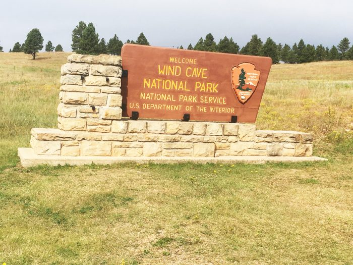 Wind Cave National Park Sign