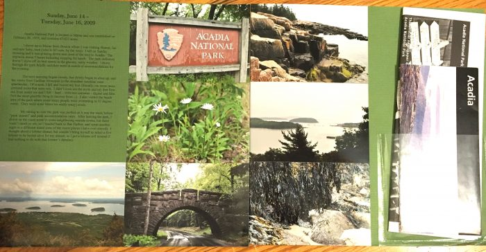 Acadia National Park Scrapbook Page