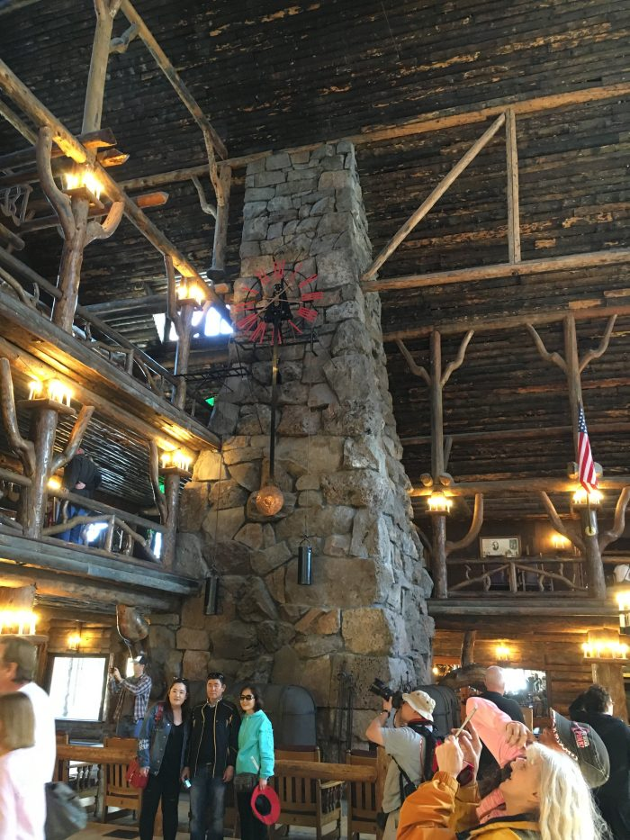 Stone Fireplace, Old Faithful Inn