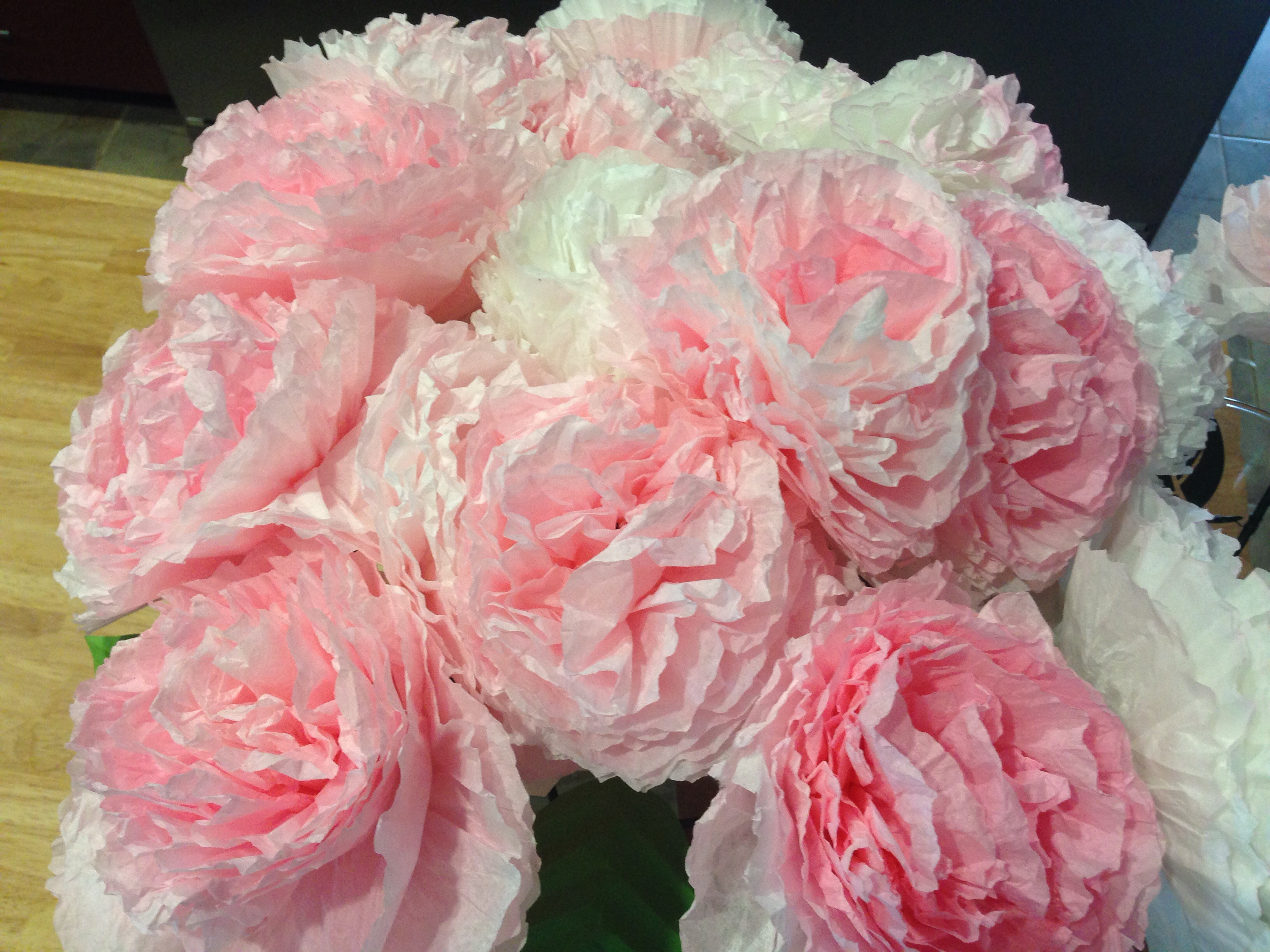 Paper Flowers Out Of Coffee Filters
