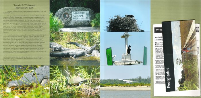 Everglades National Park Scrapbook Page